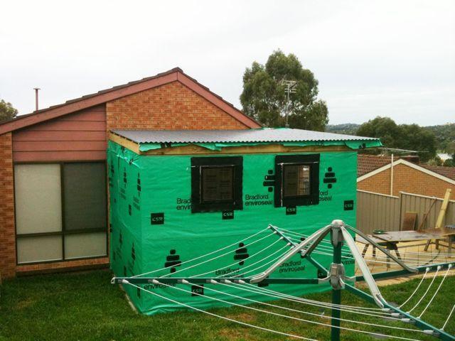 Building a backyard studio day 4 for Building a studio in the backyard